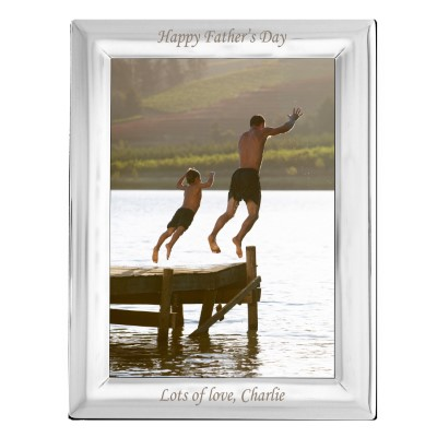 Personalised Silver Plated 5x7 Photo Frame