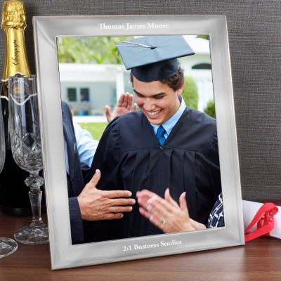 Personalised Any Message 10x8 Silver Photo Frame